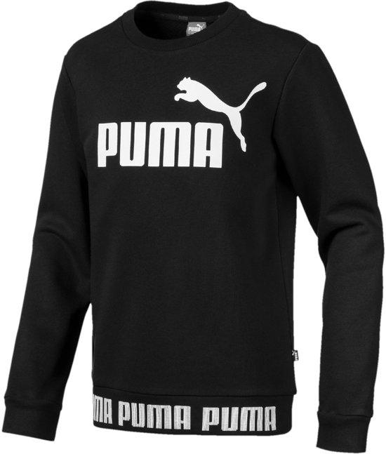 261dad39f71 Puma Amplified Crew Sporttrui - Maat 140 - Unisex - zwart/wit