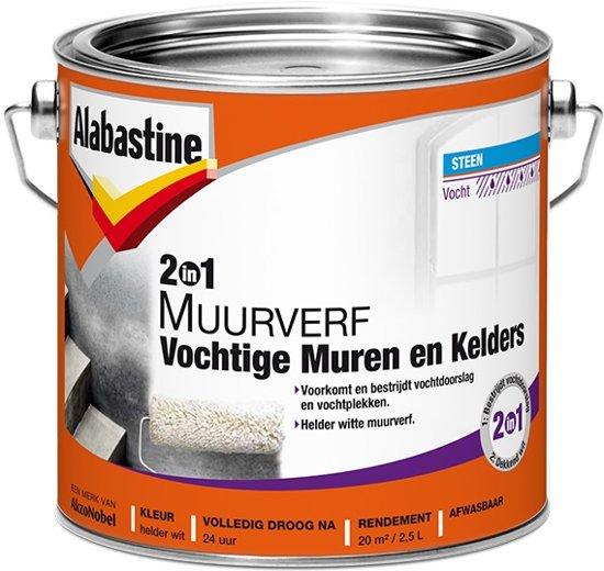 Fabulous bol.com | Alabastine 2-in-1 Muurverf - Voor Vochtige Muren en CT23