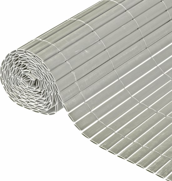 Nature - Tuinscherm - PVC - Dubbelwandig - Grijs - 1 x 3m