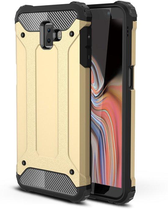Armor Hybrid Samsung Galaxy J6 Plus Hoesje - Goud