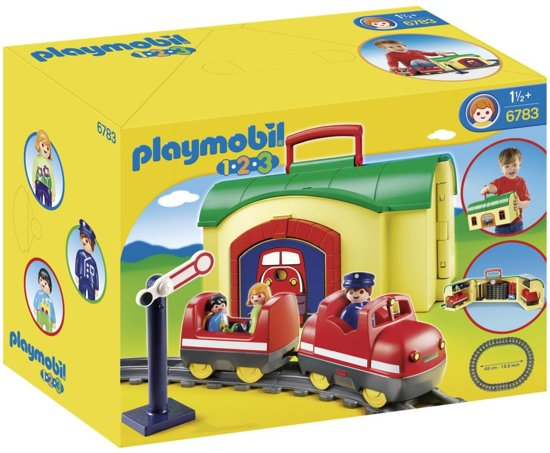 playmobil 123 mijn meeneem treinstation 6783. Black Bedroom Furniture Sets. Home Design Ideas