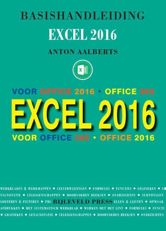 Basishandleiding Excel 2016