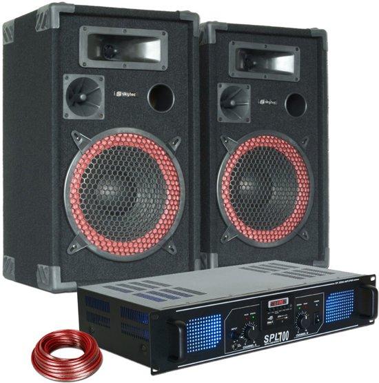 DJ PA Luidspreker en Versterker combinatie 700W met MP3 en USB