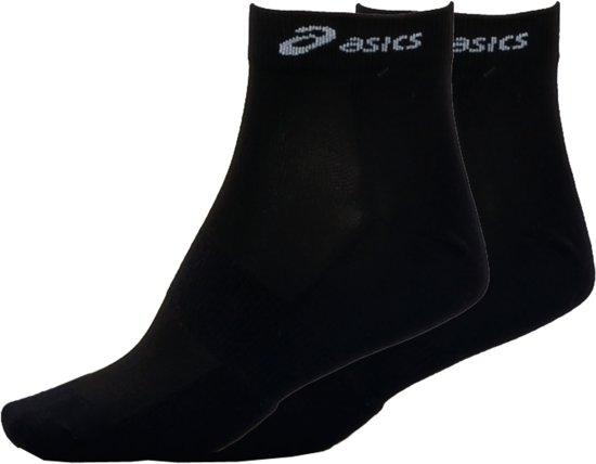 Asics Hardloop Quarter Sokken (2-pack) - 39-42 - Zwart