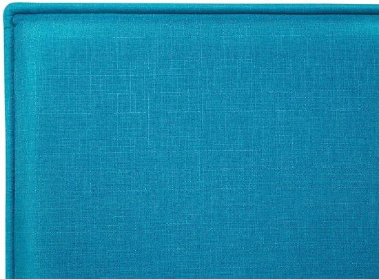 Beliani Sennez Bed Blauw Hout