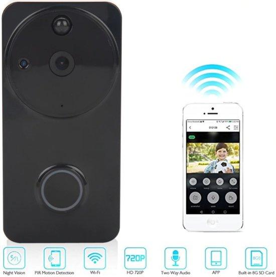 Deurbel Voor Iphone.Slimme Deurbel Met Camera Incl Ontvanger En 2x 18650 Batterijen Bewegingsdetectie Tweezijdige Communicatie Nachtzicht Ios Android Hd