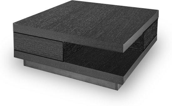 Vierkante Zwarte Salontafel.Bol Com Salontafel Function Zwart Eiken
