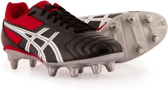 Rugbyschoenen Asics Black Lethal Tackle - Zwart/Rood/Wit - Heren - Maat 48