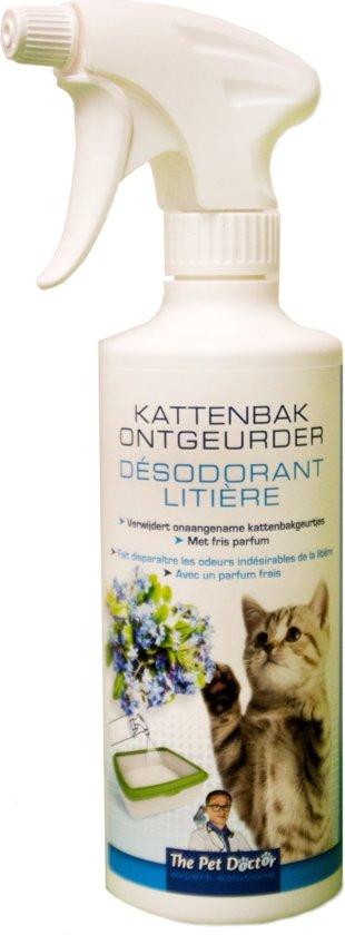 Kattenbak ontgeurder -  500 ml - set van 2 stuks