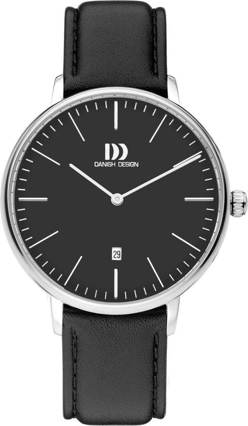 Danish Design IV13Q1175 horloge dames - zwart - edelstaal