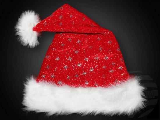 Bolcom Kerstmuts Luxe Pluche Met Glitterende Werkjes Kerst