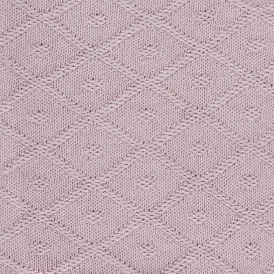 Jollein Diamond Knit - Ledikantdeken 100x150 cm - Vintage Roze