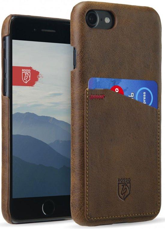 Rosso Select Apple iPhone 7 / 8 Hoesje Echt Leer Back Cover Bruin