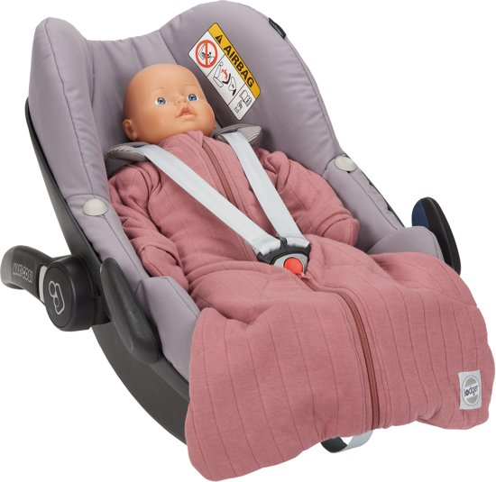 Lodger Baby slaapzak - Hopper Solid - Roze - Lange mouw - 68/80