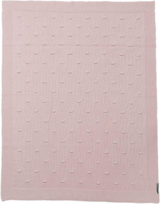 Meyco Silverline knots ledikantdeken - 100 x 150 cm - roze