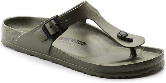 Birkenstock Gizeh EVA Normaal Dames Slippers - Khaki  - Maat 37