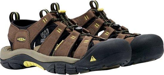 Keen Newport H2 Sandaal Heren Wandelsandalen - Maat 39.5 - Mannen - bruin/geel/zwart
