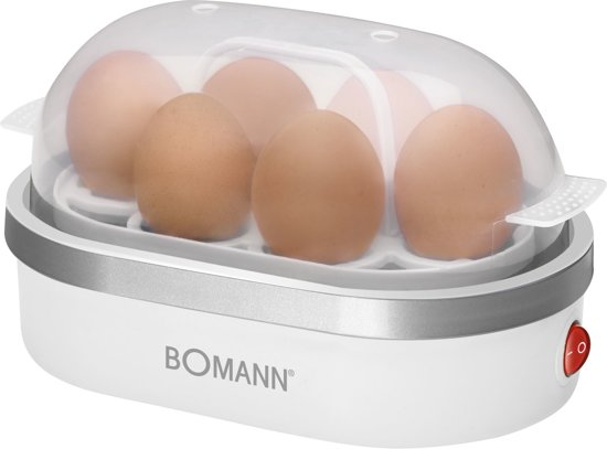 Bomann EK 5022 CB 6eggs 400W Zilver, Transparant, Wit eierkoker