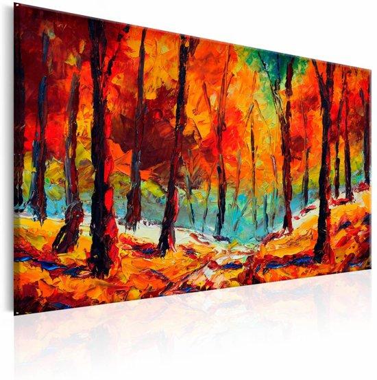 Handgeschilderd schilderij - Artistic Autumn