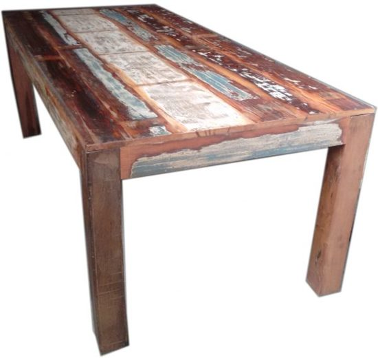 Eet En Salon Tafel.Bol Com Eco Collection Fairtrade Eet Tafel Scrapwood