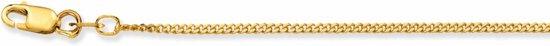 Glow schakelketting - gourmette - geelgoud - 1.4 mm - 50 cm
