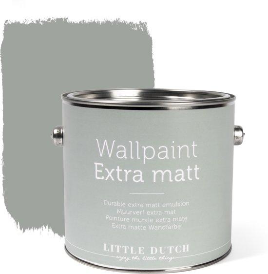 Little Dutch - Muurverf Mat - Dusty Grey - Grijs - 2,5 liter
