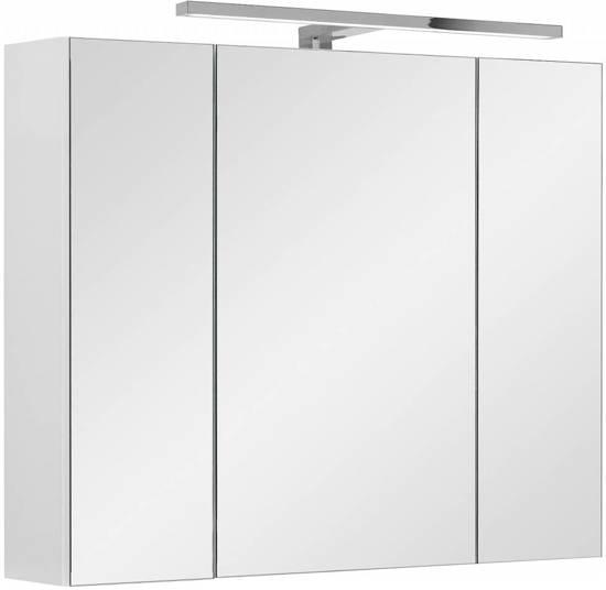 lili spiegelkast 80 cm met led verlichting wit hoogglans