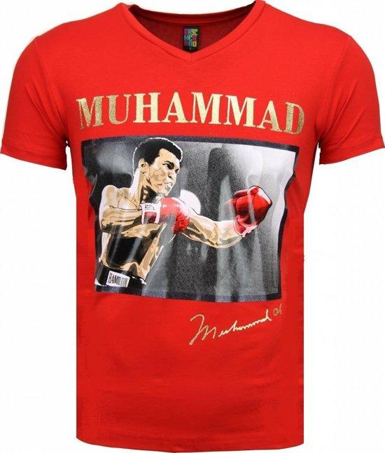 Mascherano T-shirt - Muhammad Ali Glossy Print - Rood - Maten: M