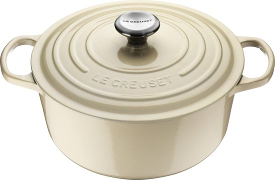 Le Creuset Signature Braadpan - 4,2 l - 24 cm - Crème