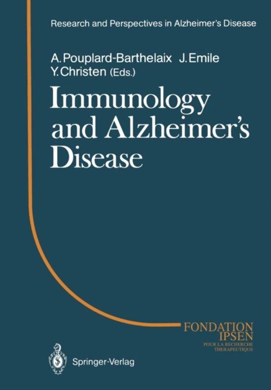 Immunology and Alzheimer's Diseasee