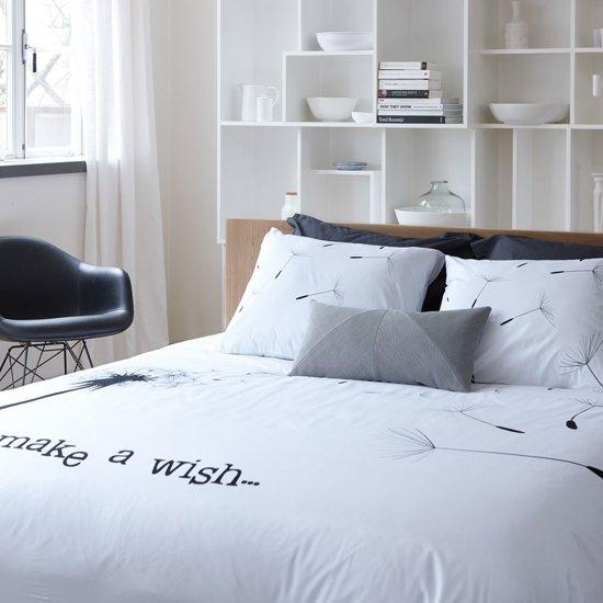 walra make a wish dekbedovertrek wit lits jumeaux 240x200 220 cm 2 slopen. Black Bedroom Furniture Sets. Home Design Ideas