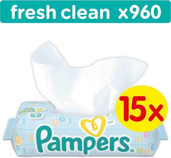 Pampers Fresh Clean - 960 Stuks (15x64) - Babydoekjes