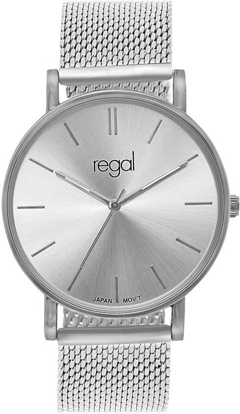 Regal - Regal mesh horloge limited edition zilverkleurig