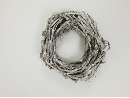 Kransen - Grape Wood Wreath 30*5 Cm. White Washed