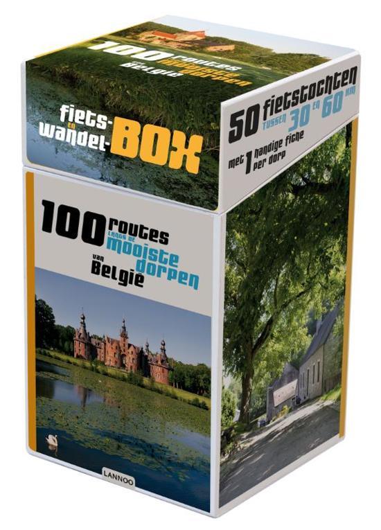 Boek cover 100 routes langs de mooiste dorpen van Belgie + infogids van Robert Declerck (Hardcover)