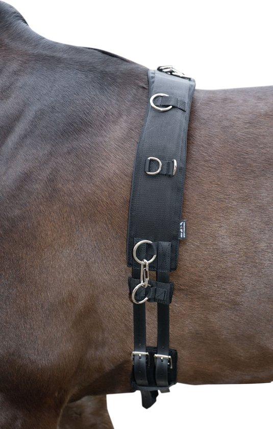 HKM Longeersingel -Deluxe- zwart Pony