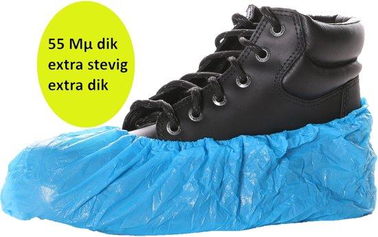 *** SET à 100 stuks *** M-Safe Overschoen polyethyleen 55 mu - wegwerp - dikkere kwaliteit !
