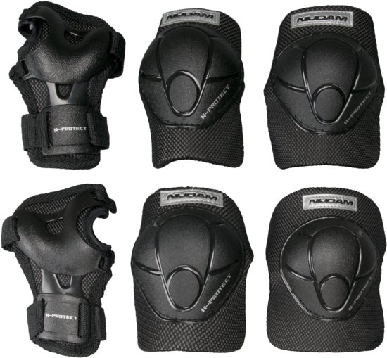 Nijdam Junior Beschermset N-Protect - Junior - Zwart - S