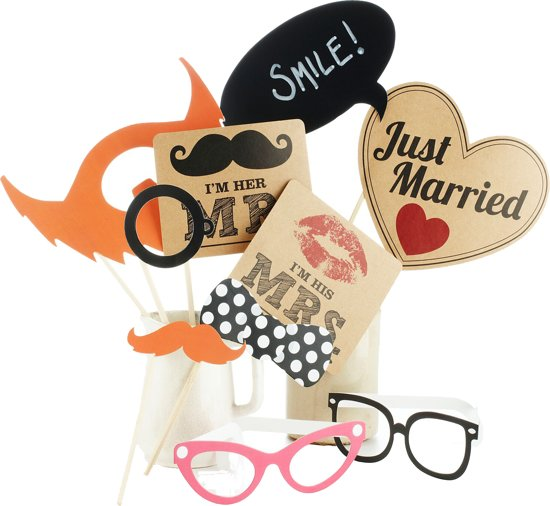 Foto Booth - Party Props vintage mix Valentinaa