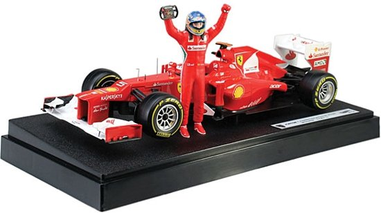 Ferrari F2012 F. Alonso Malaysian GP Victory 1:18 Hotwheels