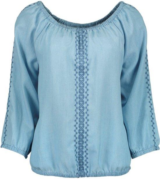 Blue Seven dames blouse blauw 'Ibiza style' - maat 38