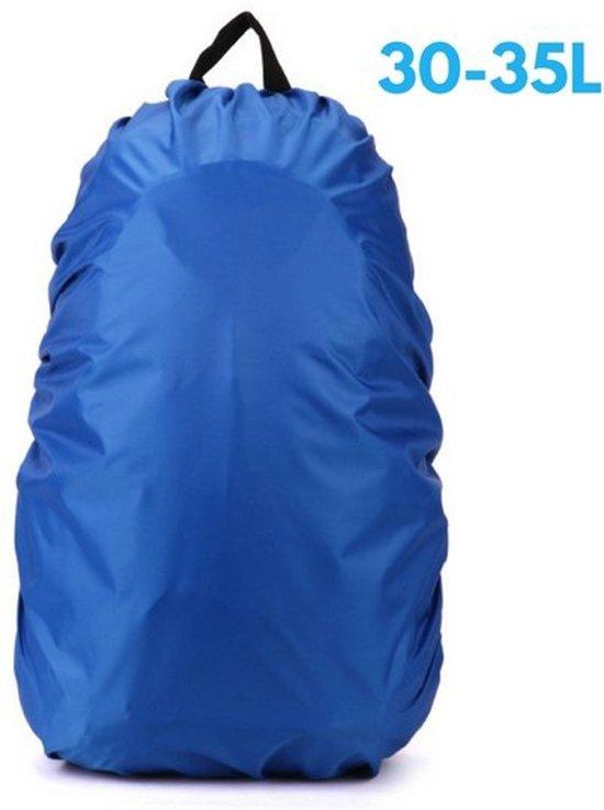39aaaf89b64 Flightbag Regenhoes Waterdicht voor Backpack Rugzak - 30-35 Liter Regenhoes  – Blauw