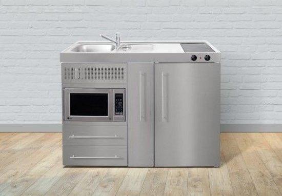 Stengel keukenblok met MPM120A RVS met koelkast, magnetron en apothekerskast