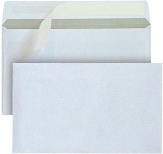 Bank envelop C5 162 x 229 mm wit 80 gram zelfklevend 500 stuks, zonder venster