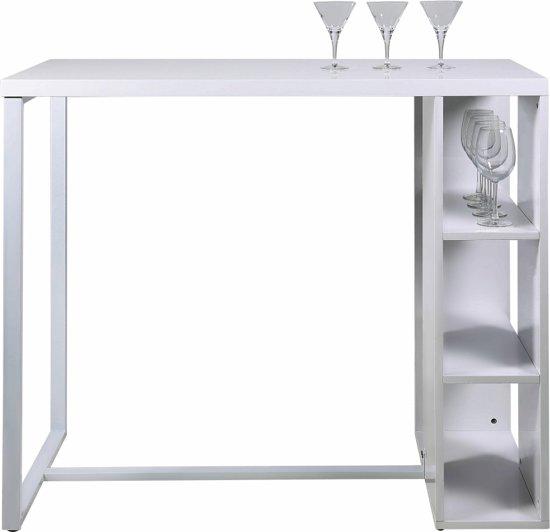24Designs Bartafel Yara - L120 X B60 X H105 Cm - Hoogglans Wit