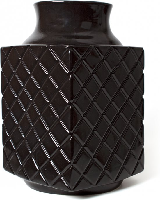 Fairtrade Vaas 'Suai' Zwart Keramiek