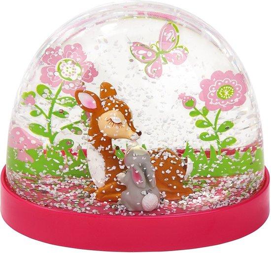 sneeuwbol Bambi meisjes 9 x 7,5 cm transparant