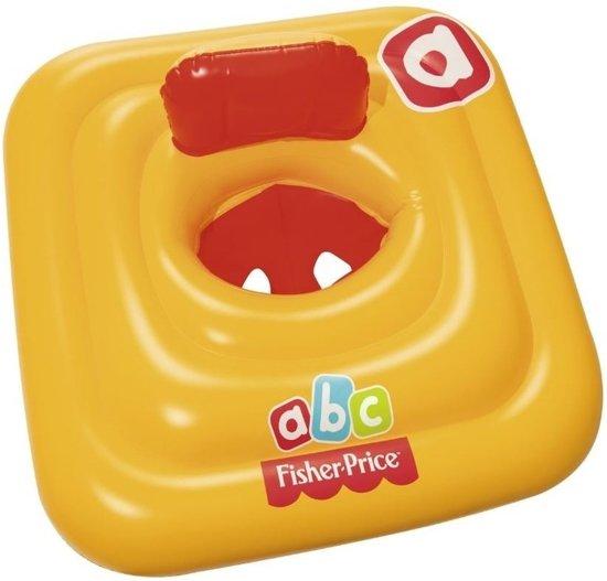 Vierkante baby float 69 cm - zwemring - geel