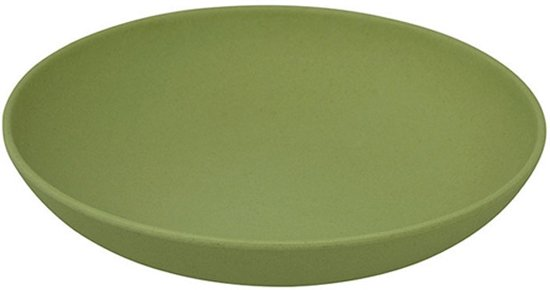 ZUPERZOZIAL - DEEP BITE PLATE WGR, willow green D 22.5 x H 4.5