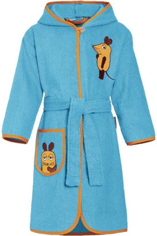 Playshoes badjas muis aquablauw